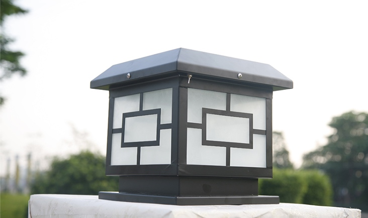 pm 01 outdoor post mounted light lumina concepts. Black Bedroom Furniture Sets. Home Design Ideas